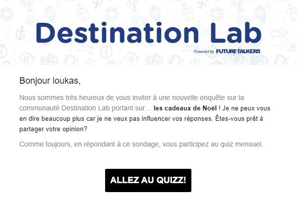 destination lab enquete